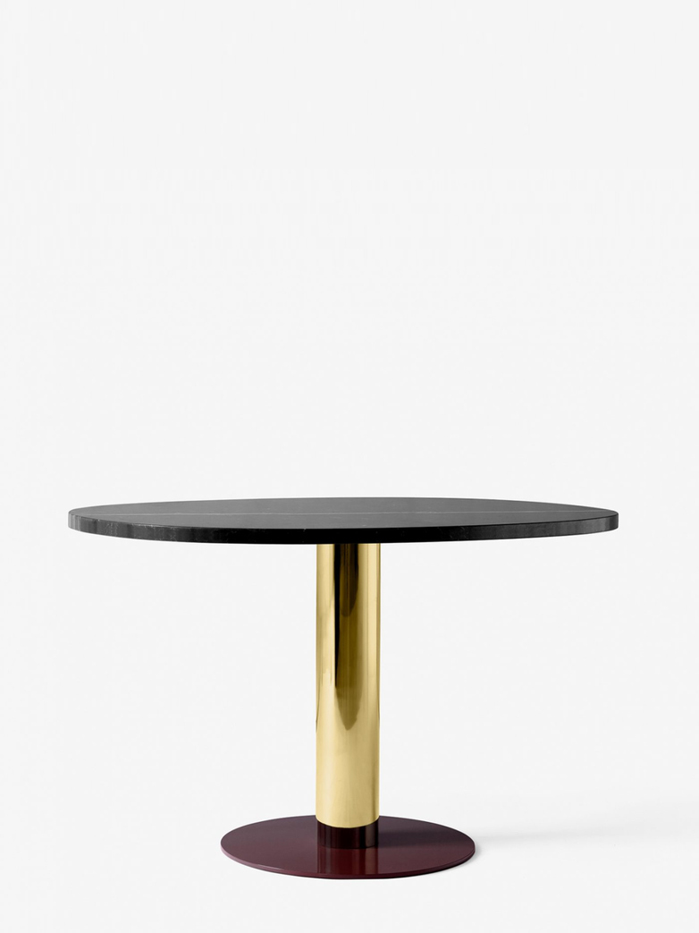 Mezcla JH22 Dinner Table – Nero Marquina/Brass/Burgundy – 90 x 120