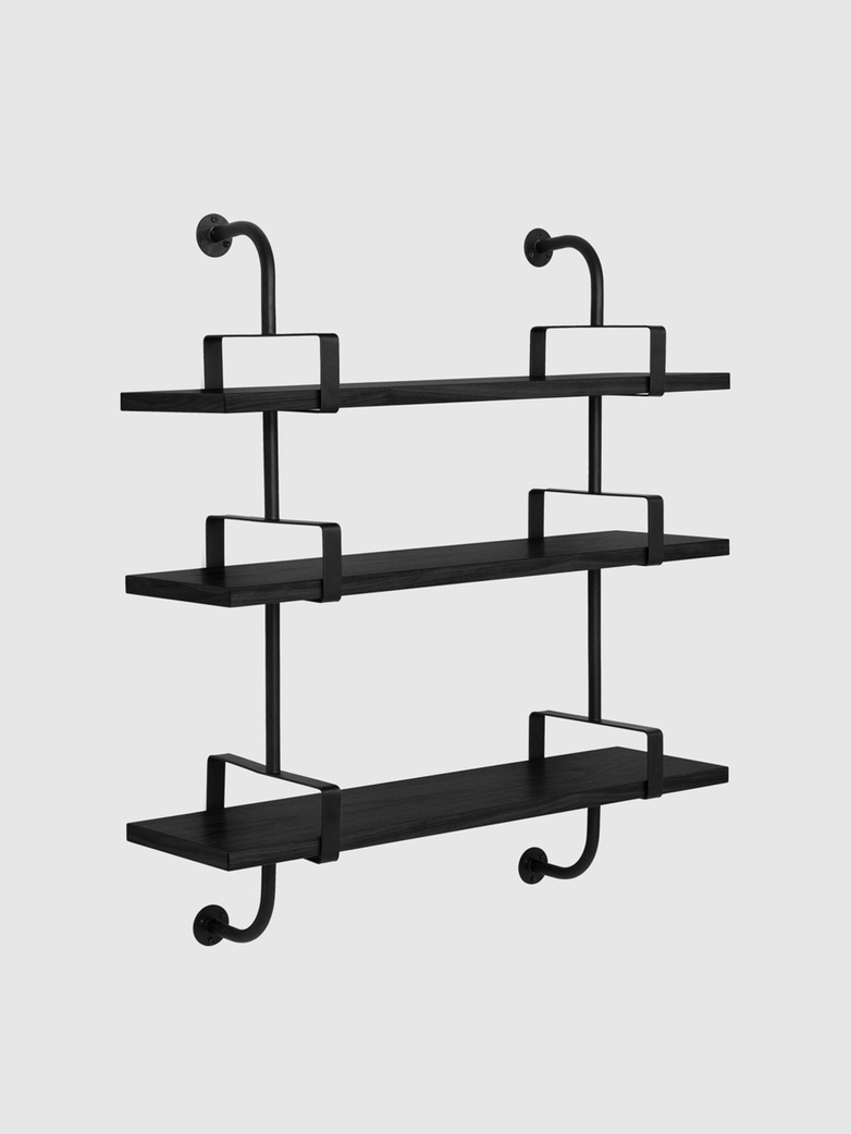Démon Shelf – Black Stained Ash – 3 Shelves