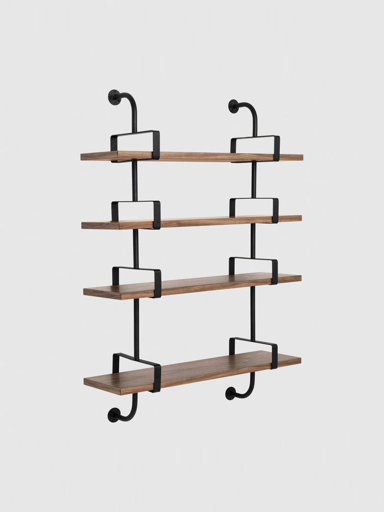 Démon Shelf – American Walnut – 4 Shelves