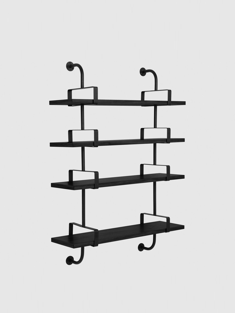 Démon Shelf – Black Stained Ash – 4 Shelves