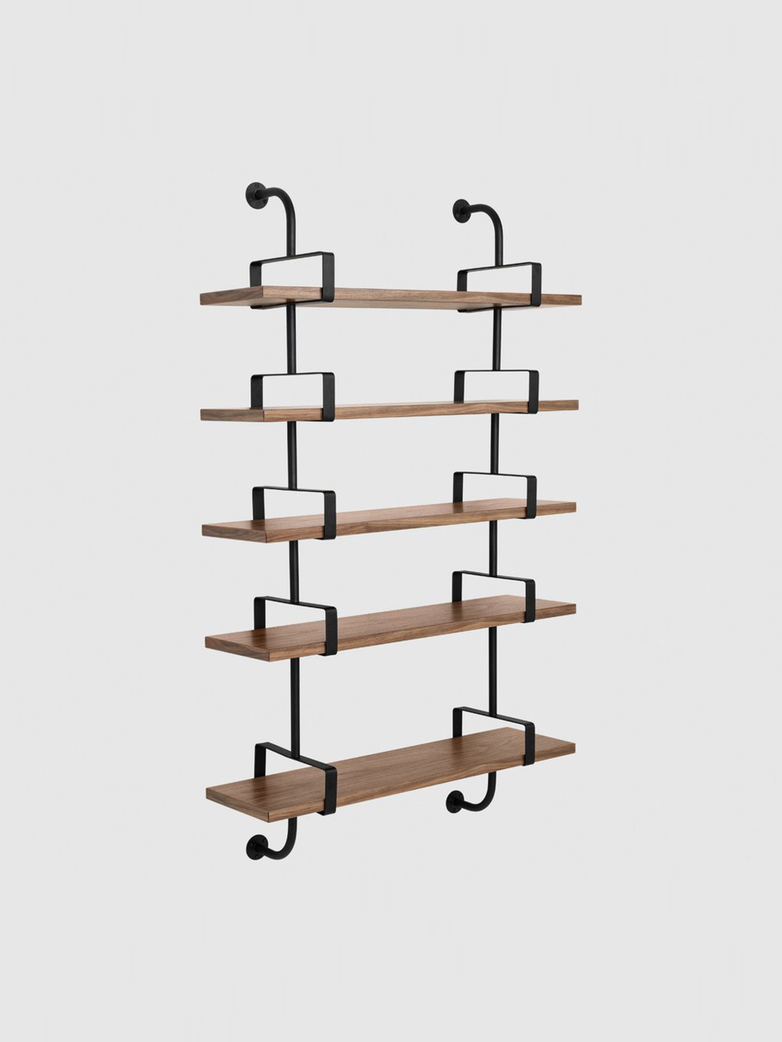 Démon Shelf – American Walnut – 5 Shelves
