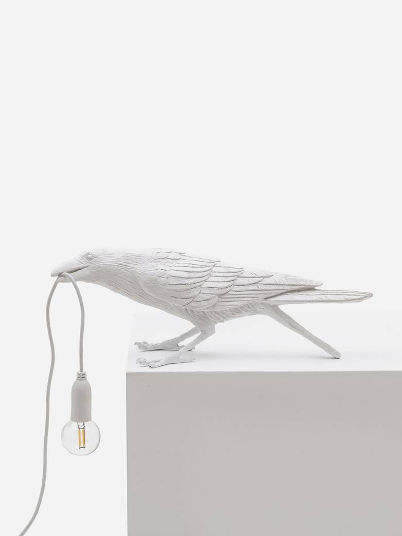 SAMPLE SALE - Bird Lamp Playing – White