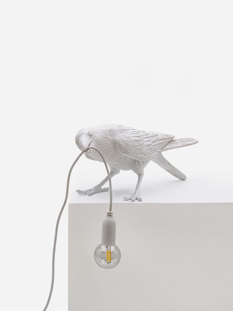 Bird Lamp Playing – White