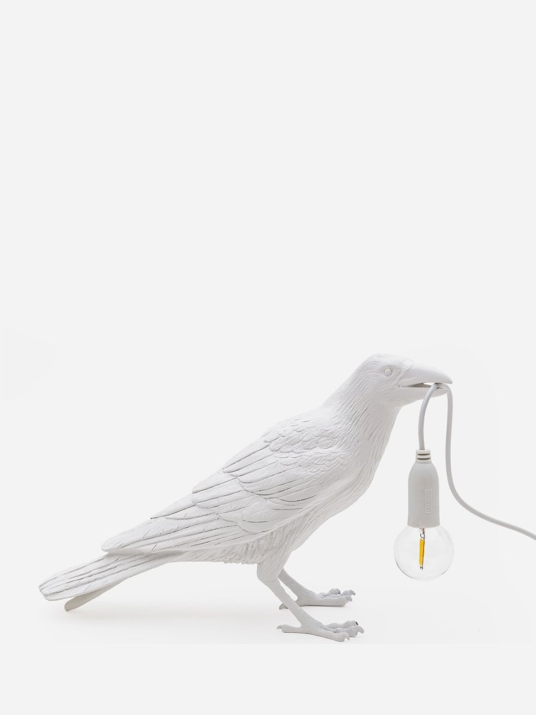SAMPLE SALE - Bird Lamp Waiting – White