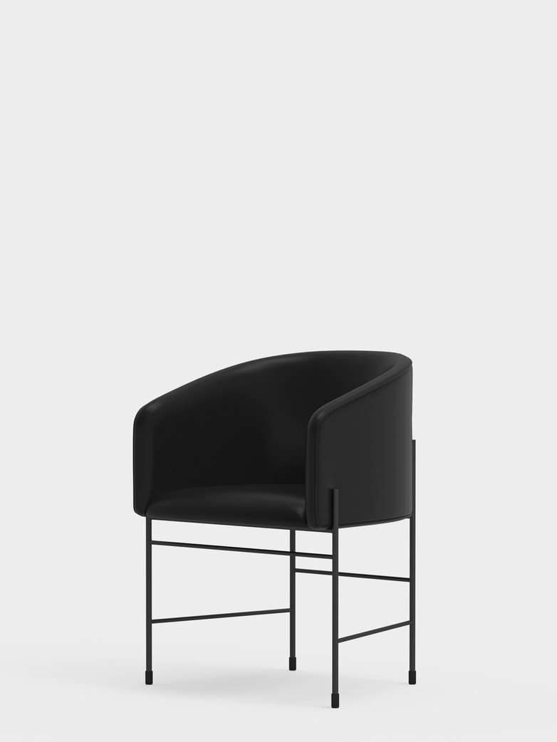 Covent Chair – Black Leather