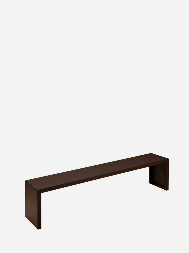 Big Irony Outdoor Bench – Rust