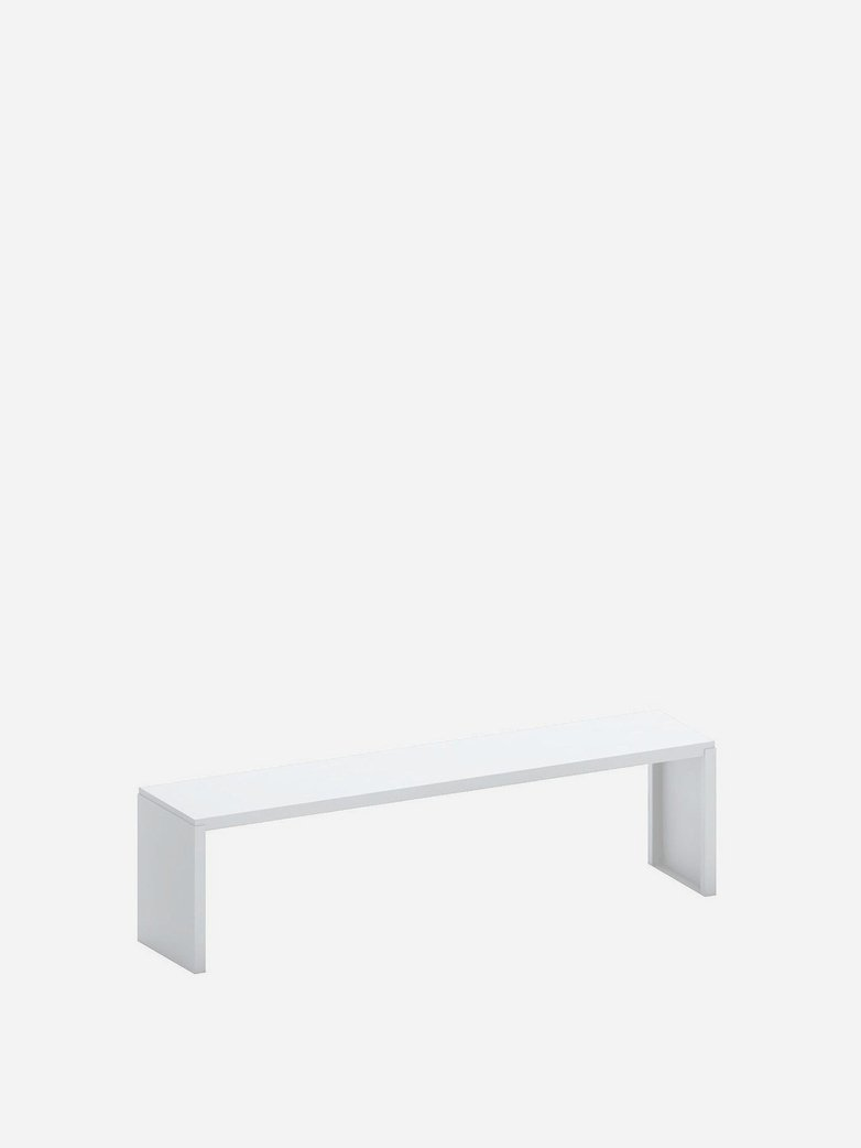 Big Irony Outdoor Bench – White
