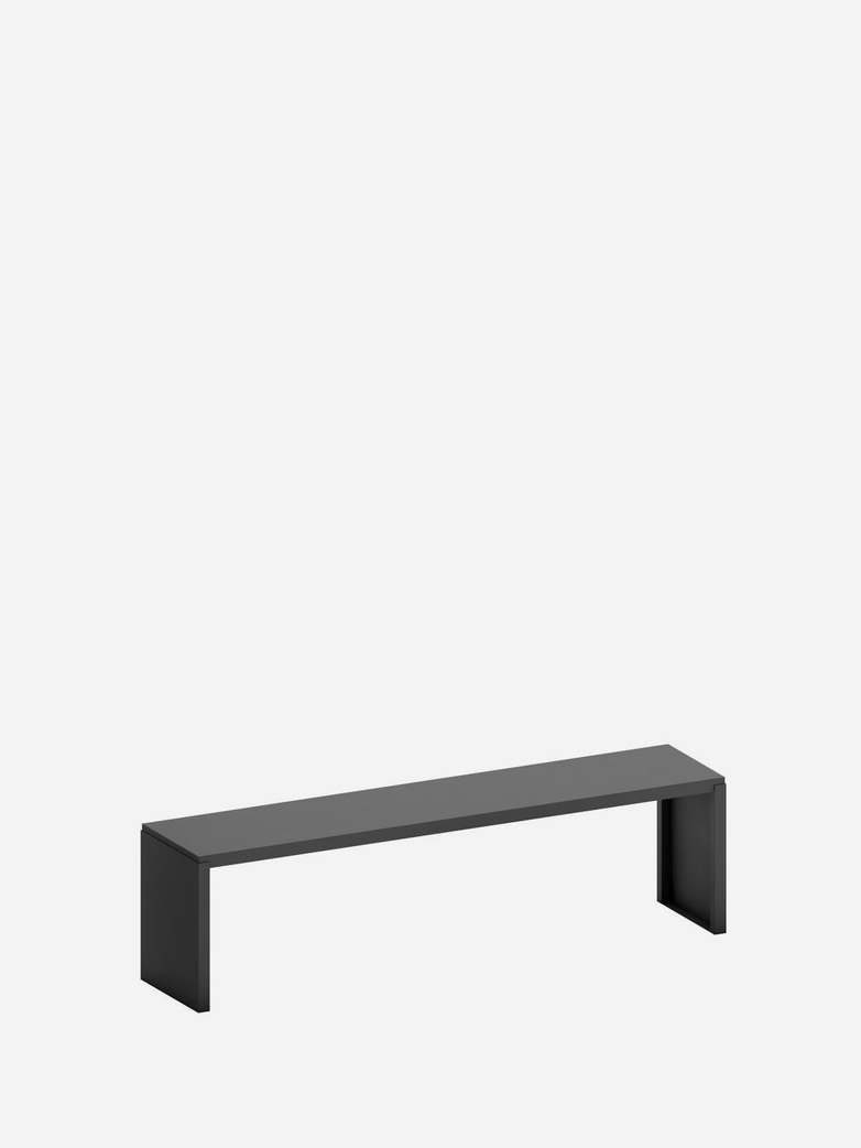 Big Irony Outdoor Bench – Gunmetal