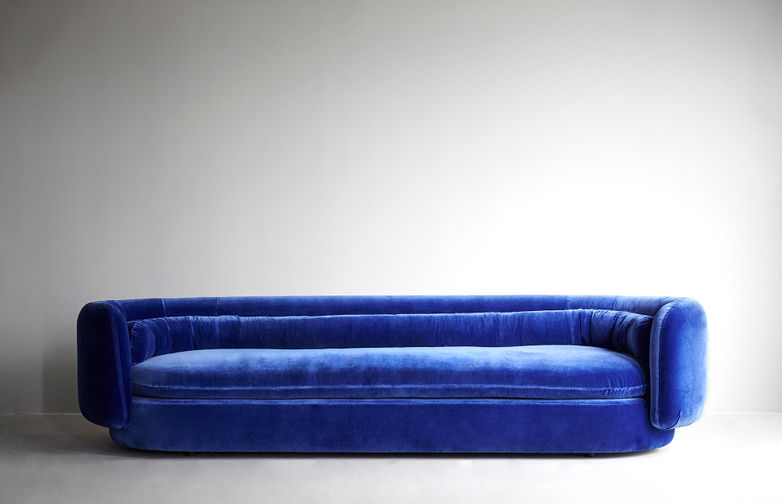 Group Sofa – Four Seater – Velvet Blue
