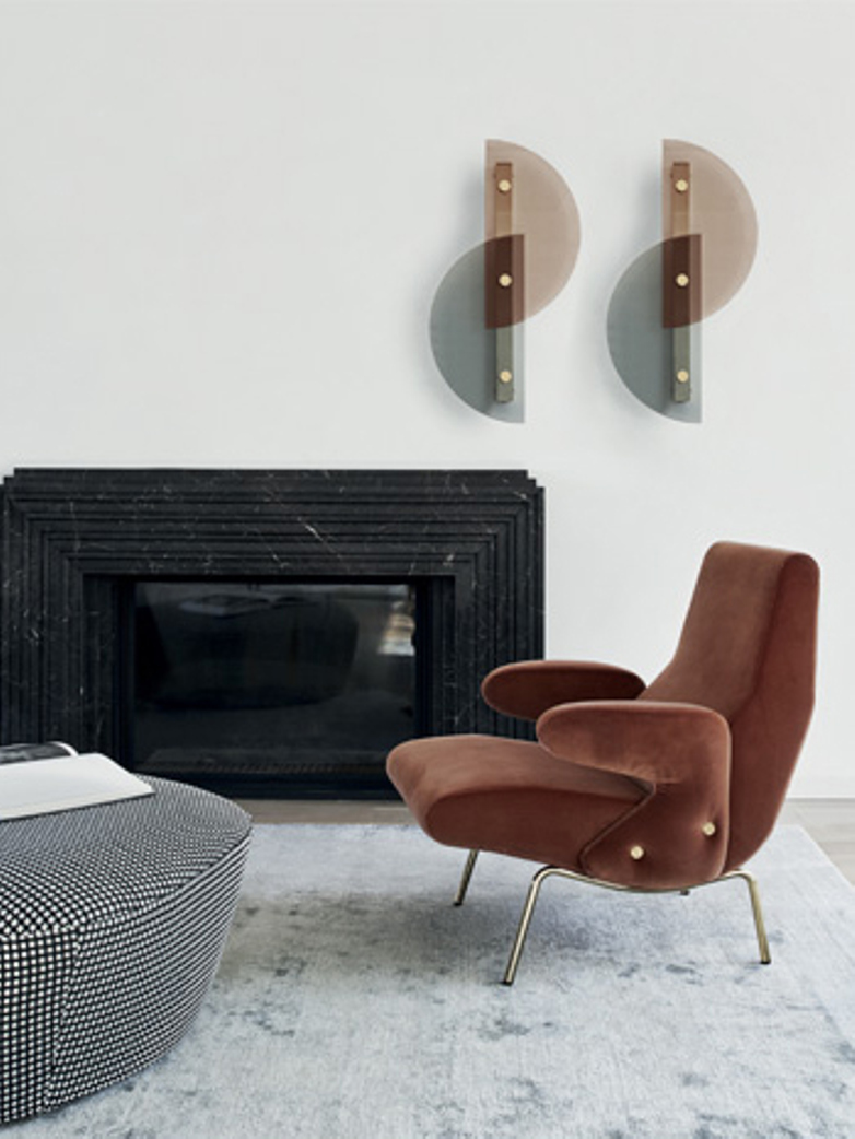 Delfino Armchair – Mistral Amber