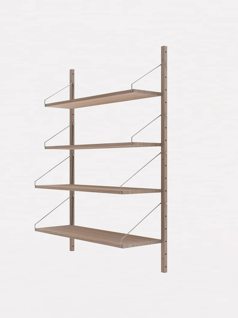 Shelf Library H148 Singel Section – White