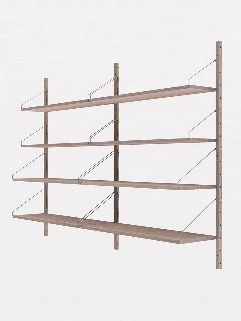 Shelf Library H148 Double Section – White