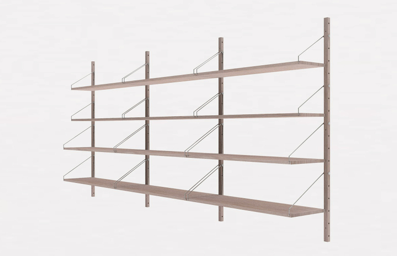 Shelf Library H148 Triple Section - White