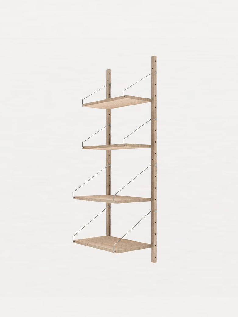 Shelf Library H148 W40 Section – White