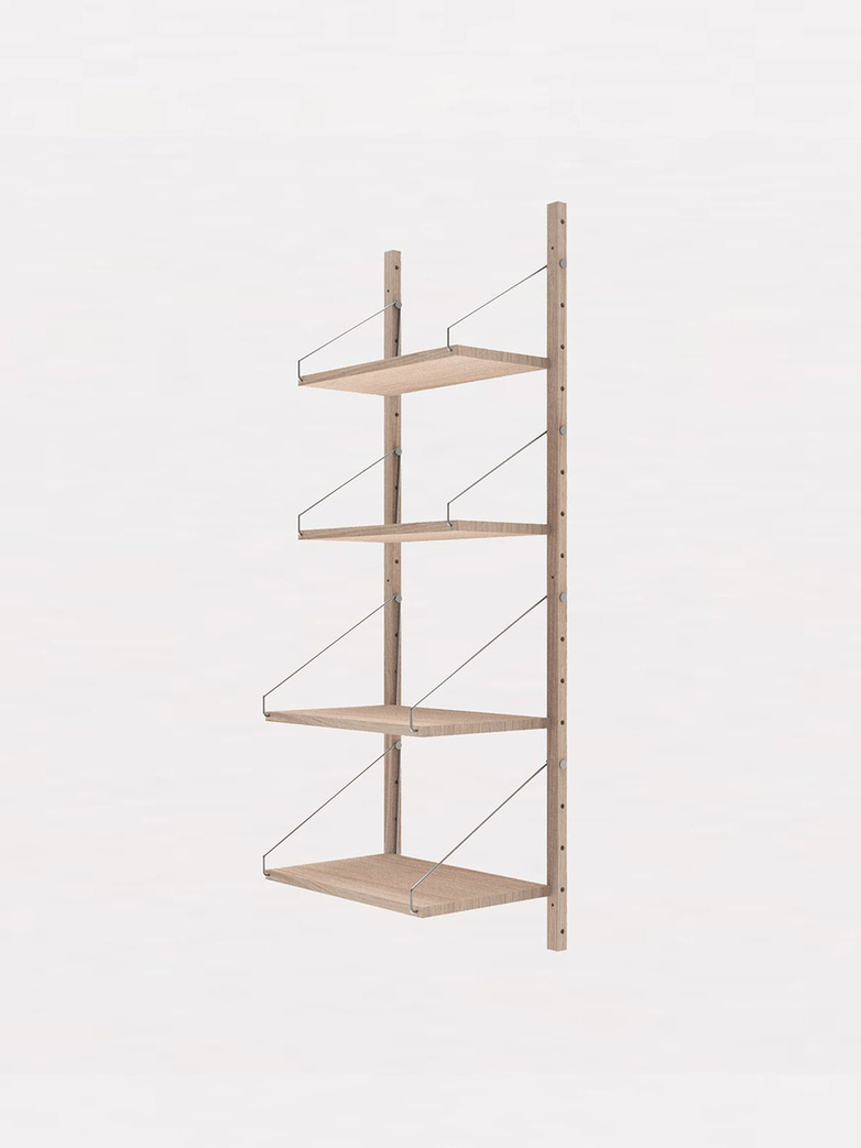Shelf Library H185 Single Section - White