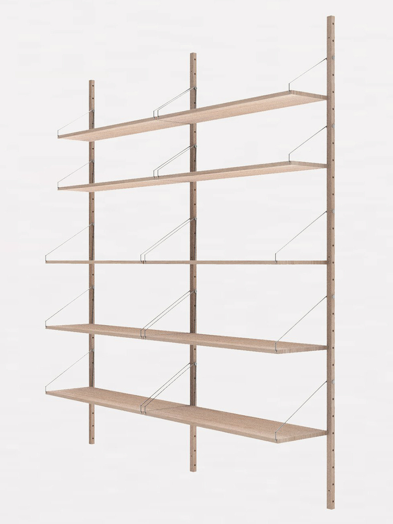 Shelf Library H185 Double Section – White