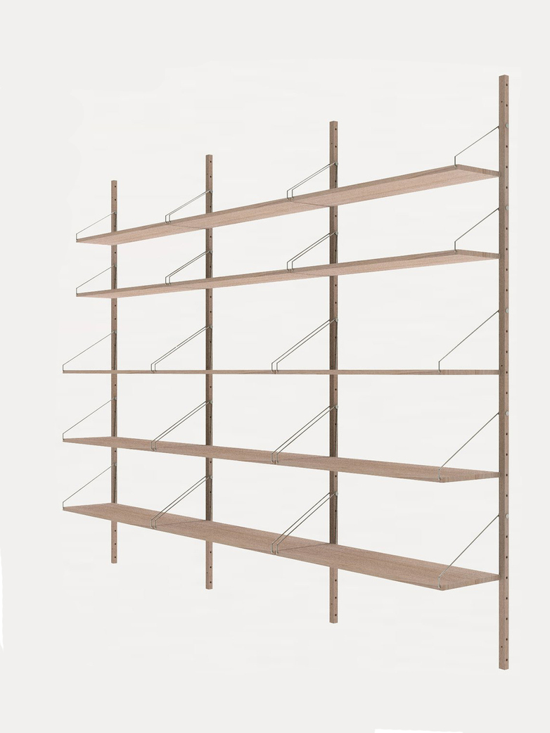 Shelf Library H185 Triple Section – White