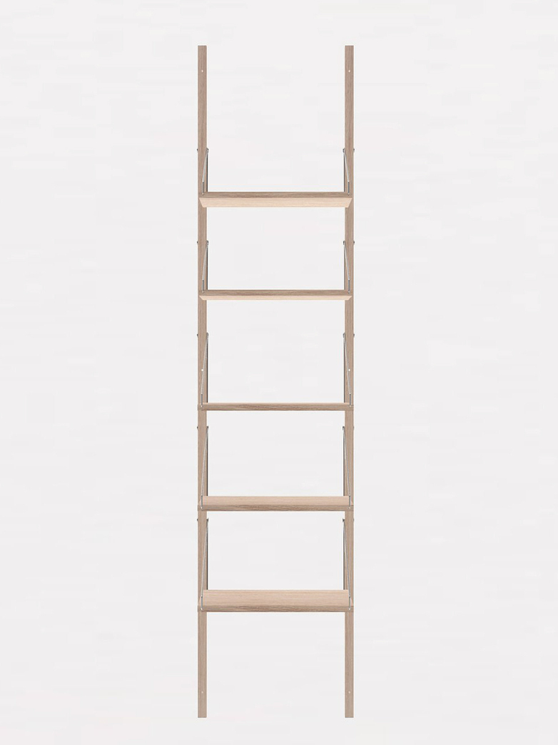 Shelf Library H185 W40 Section – White