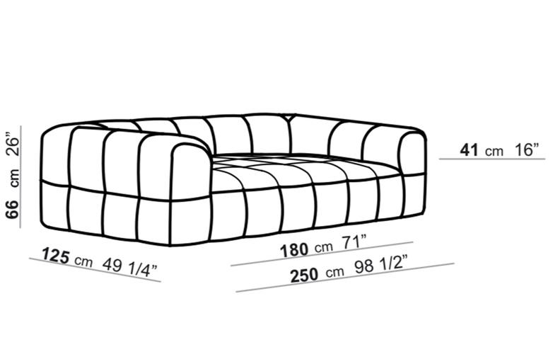 125 x 250 cm