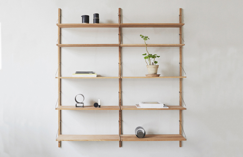 Shelf Library H148 Double Section – Natural