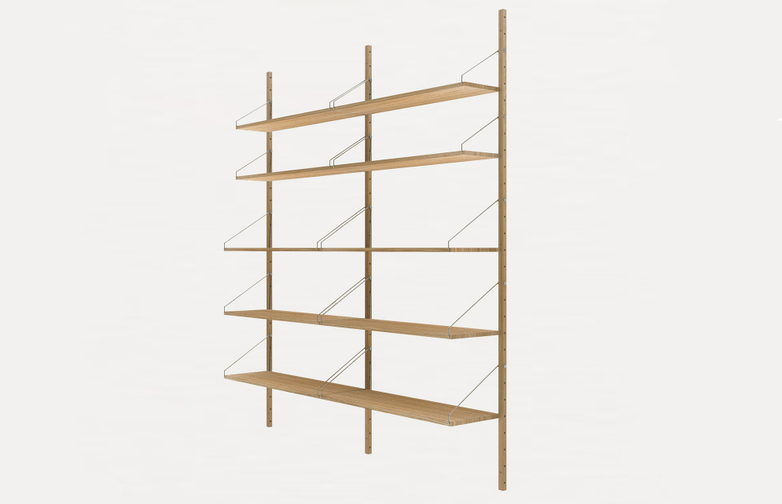 Shelf Library H185 Double Section – Natural