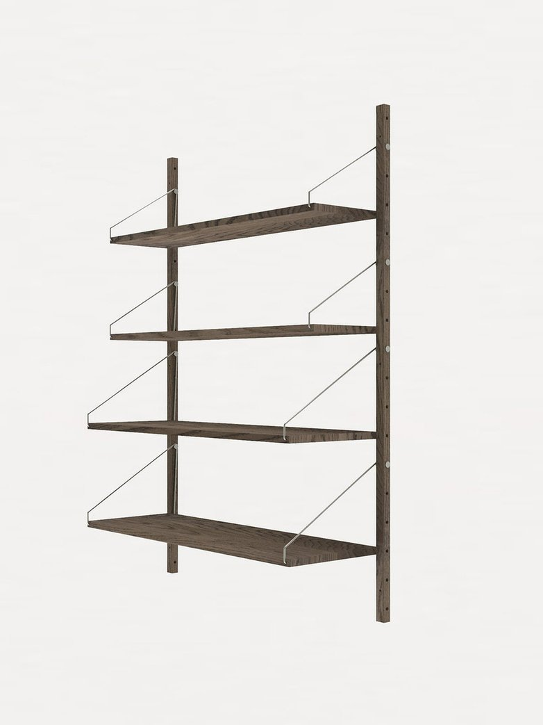 Shelf Library H148 Single Section – Dark