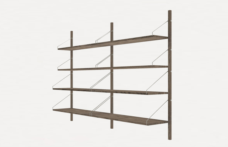 Shelf Library H148 Double Section – Dark
