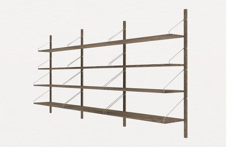 Shelf Library H148 Triple Section – Dark