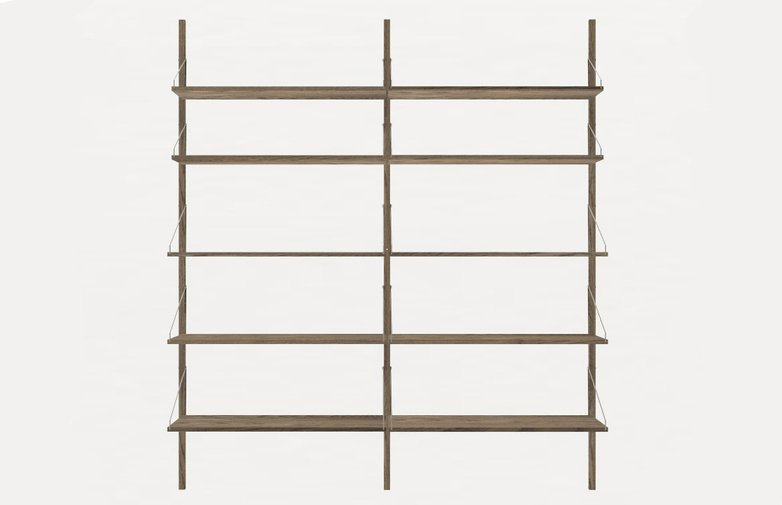 Shelf Library H185 Double Section – Dark
