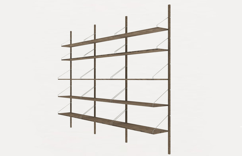 Shelf Library H185 Triple Section – Dark