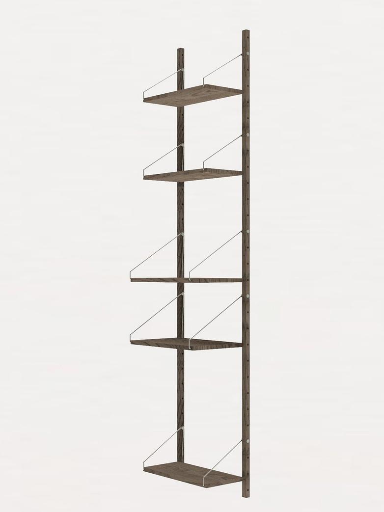 Shelf Library H185 W40 Section – Dark