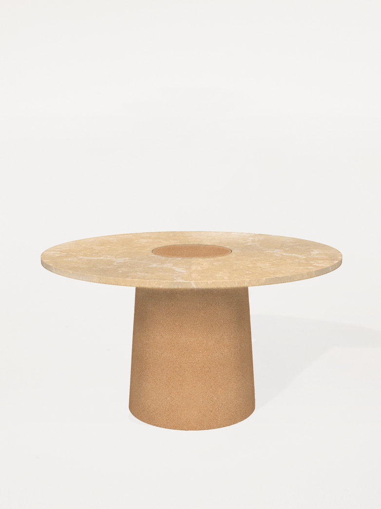 Sintra Dining Table - Yellow Limestone