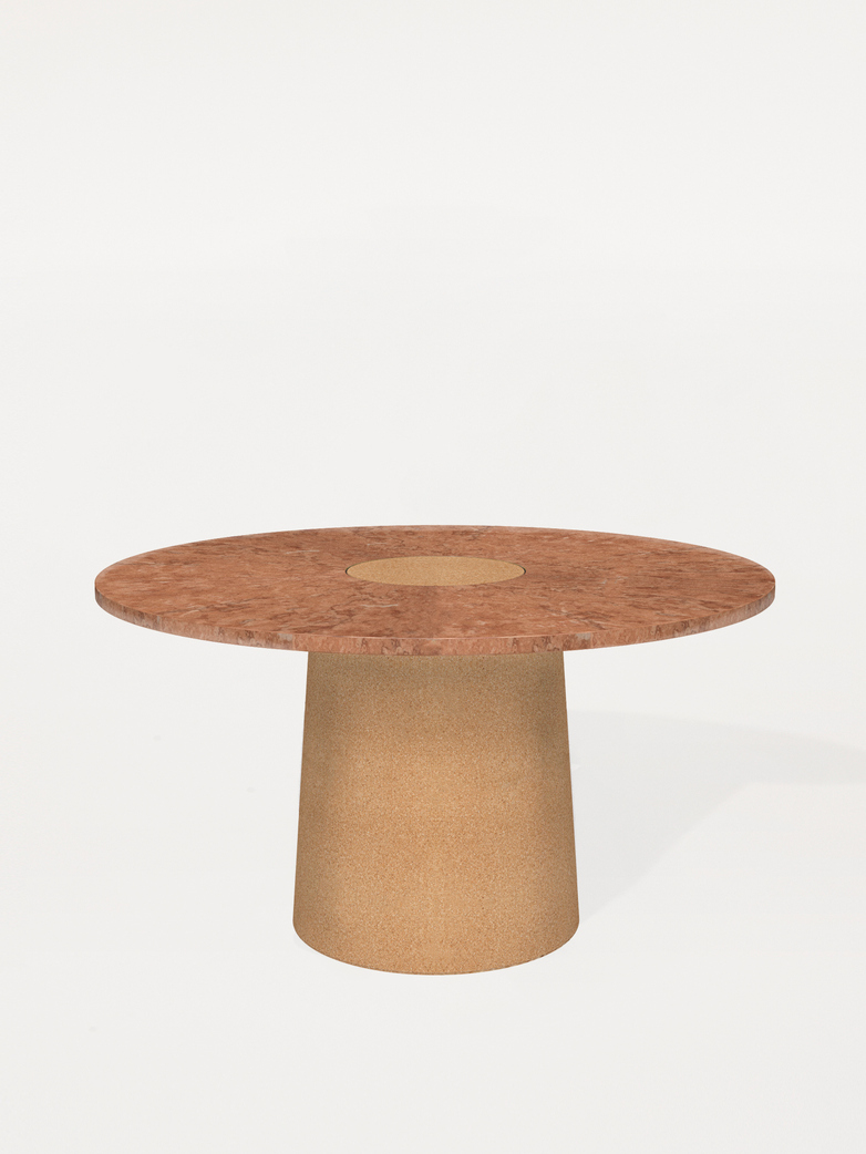 Sintra Dining Table - Red Limestone