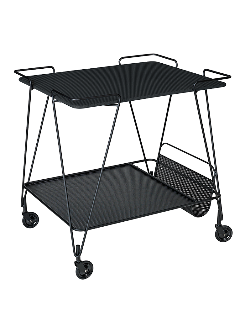 Matégot Trolley – Soft Black Semi Matt