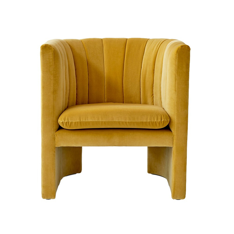 Loafer Lounge Chair SC23 – Velvet Twilight – Yellow