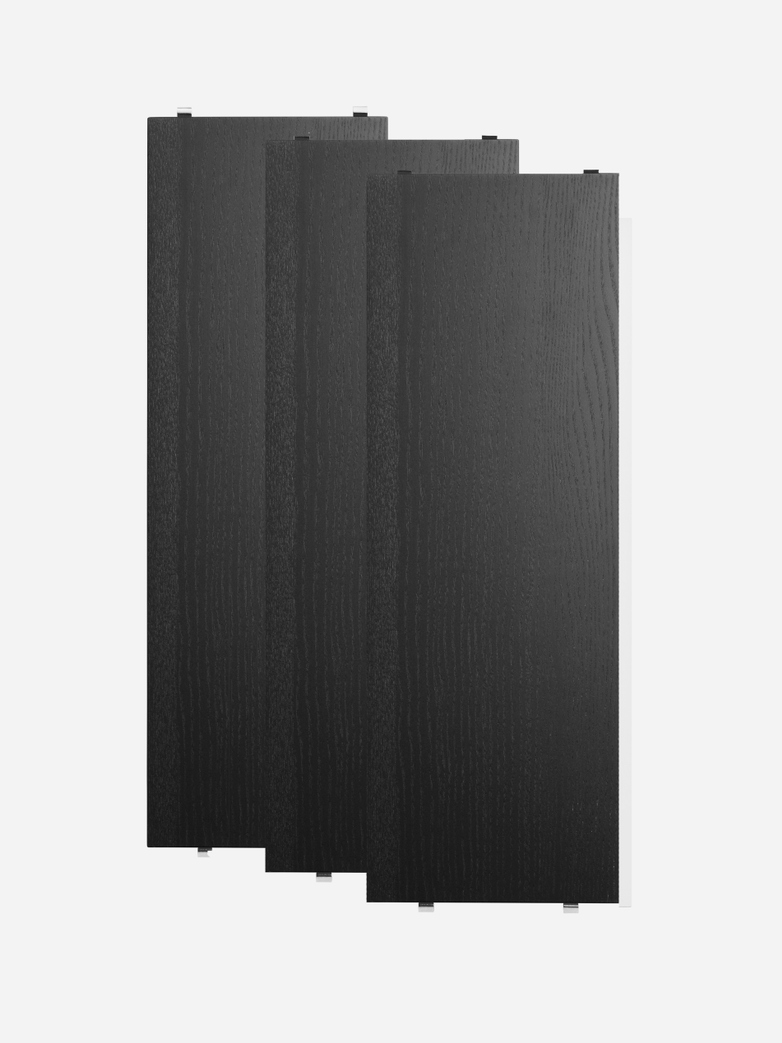 Shelves 3-pack – Black Stained Ash