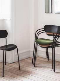Pavilion armchair AV4 - Laqured Oak/Velvet Pine Green