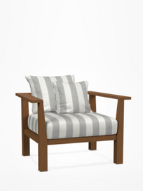 Inout 01 Lounge Chair – Category C - Canete Rigato Grigio
