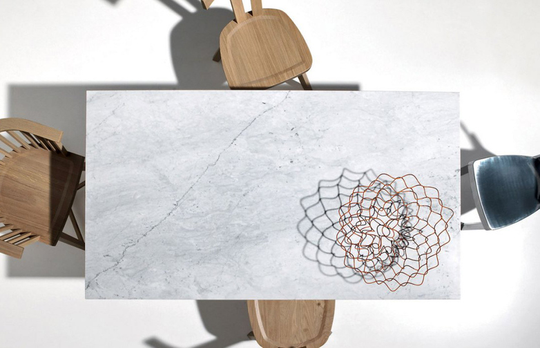 Inout 133 Table – Marble/Grey