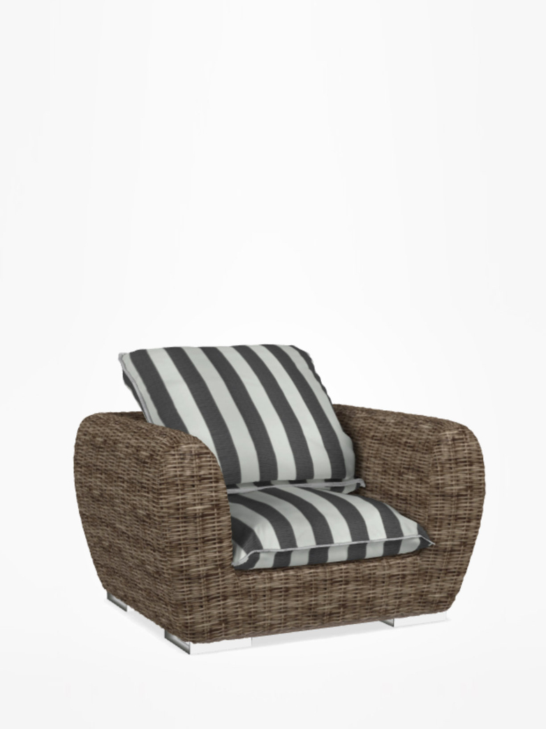 Inout 625 Armchair Rattan – Category C - Canete Rigato Nero