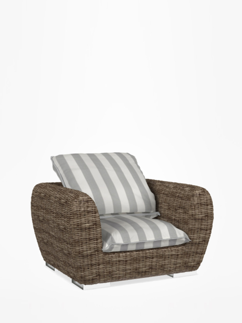 Inout 625 Armchair Rattan – Category C - Canete Rigato Grigio