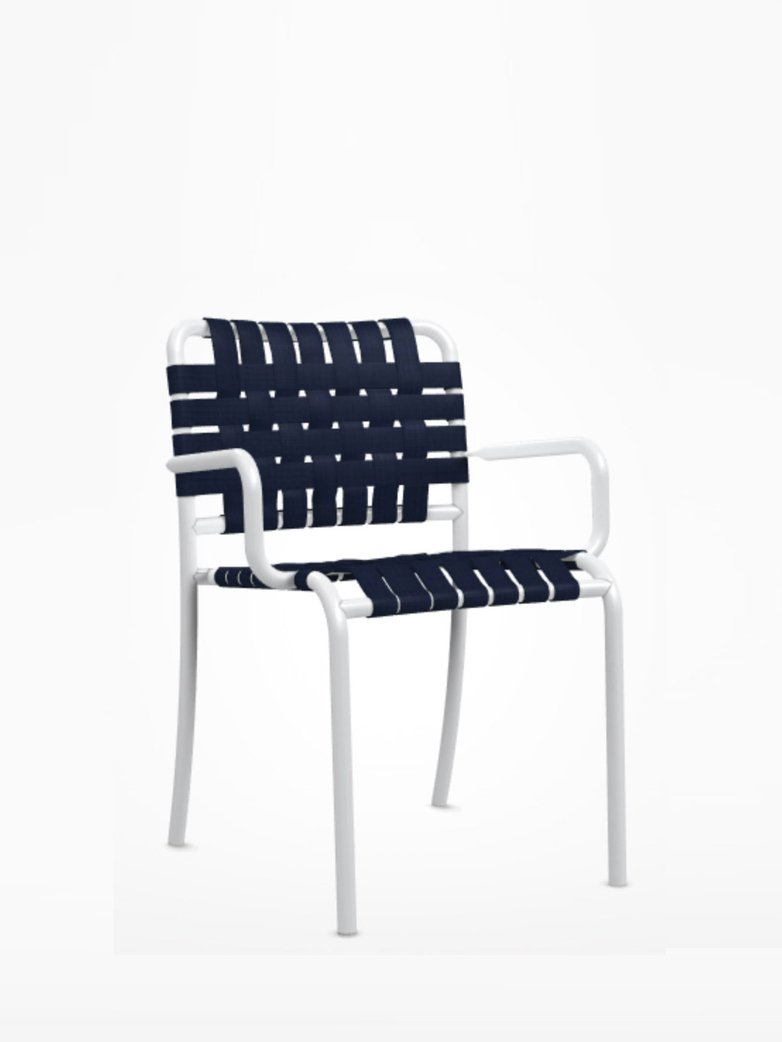Inout 824 C Armchair – White/Blue