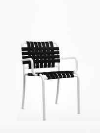 Inout 824 C Armchair – White/Black