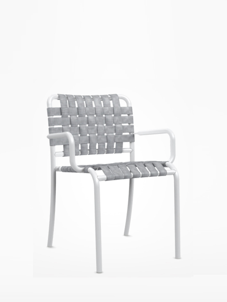 Inout 824 C Armchair – White/Grey