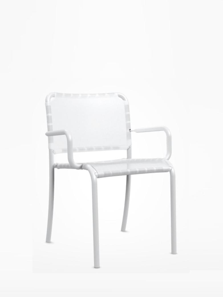 Inout 824 TX Armchair – White/White