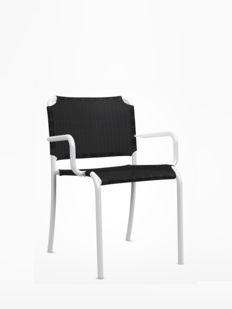 Inout 824 TX Armchair – White/Anthracite