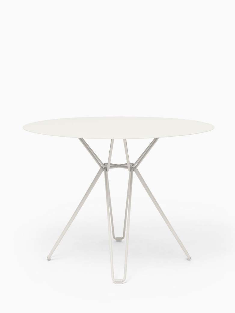 Tio Dining Table – White – Ø100