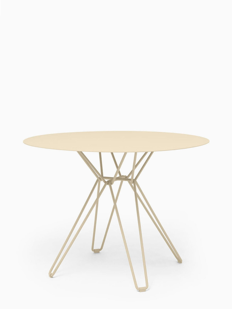 Tio Dining Table – Ivory – Ø100