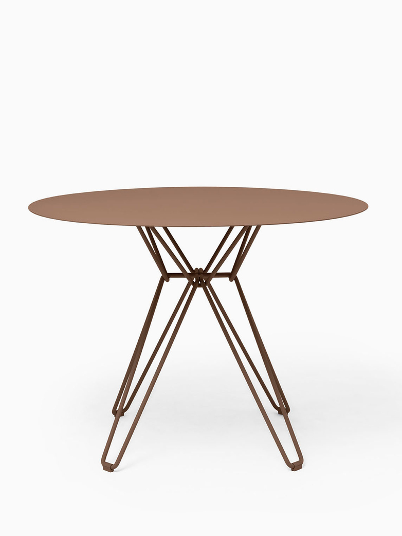 Tio Dining Table – Pale Brown – Ø100