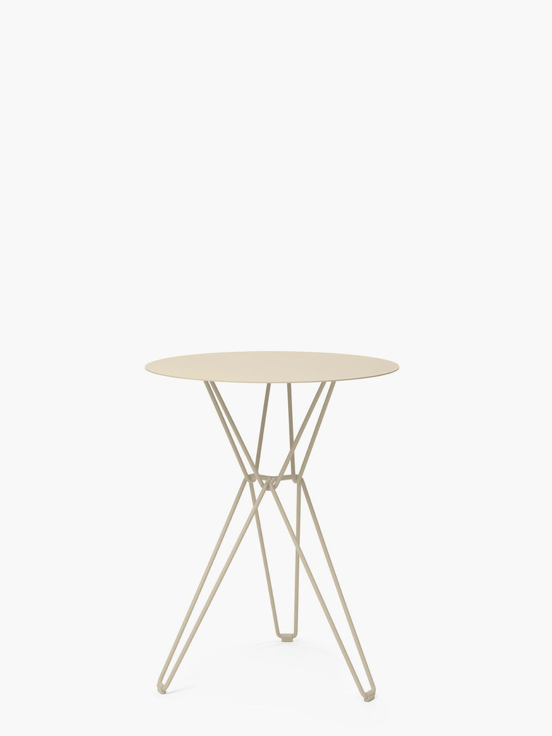 Tio Bar Table – Ivory – Ø60